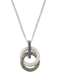 Judith Jack - Sterling Silver And Crystal Interlock Pendant Necklace - Lyst