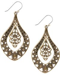 Lucky Brand - Goldtone Pendant Earrings - Lyst