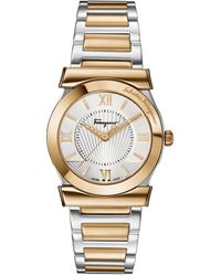 Ferragamo - Ladies Stainless Steel Two-tone Vega Watch - Lyst