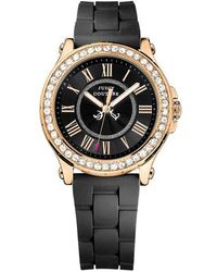 Juicy Couture - Ladies Pedigree Goldtone And Silicone Watch - Lyst