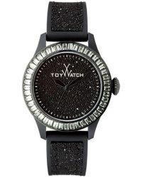 Toy Watch - Baguettebezel Glitter Silicone Watch Black - Lyst
