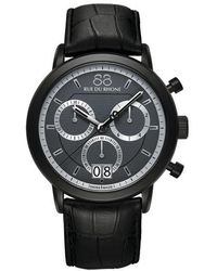 88 Rue Du Rhone - Menâs Chronograph Watch With Leather Strap - Lyst