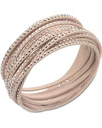 Swarovski - Slake Nude Crystallized Bracelet - Lyst