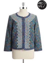 424 Fifth - Quilted Paisley Jacket - Lyst