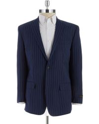 Sean John - Two Button Pinstriped Blazer - Lyst