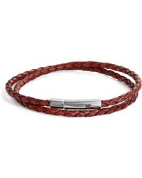 John Zack - Bolo Leather Bracelet - Lyst