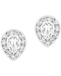 Swarovski - Christie Crystal Oval Stud Earrings - Lyst