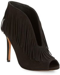 Vince Camuto Signature - Yvonne Suede Fringed Bootie - Lyst