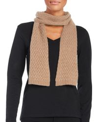 Lord & Taylor - Cashmere Knit Scarf - Lyst