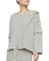 Svilu - Striped Ruffled Blouse - Lyst