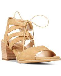 Dr. Scholls - Original Mista Leather Lace-up Sandals - Lyst