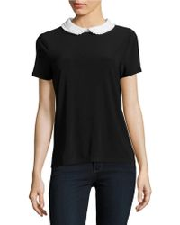 Cece by Cynthia Steffe - Contrast Collared Top - Lyst