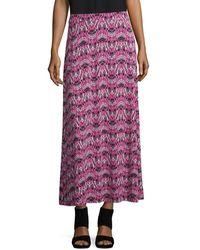 Nipon Boutique - Plus Printed Maxi Skirt - Lyst