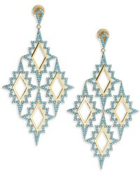 Lord & Taylor - Turquoise Drop Earrings - Lyst