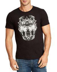 William Rast - Owl Lion Graphic Cotton Tee - Lyst