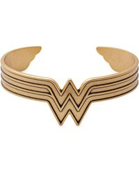 ALEX AND ANI - Wonder-woman Logo Bracelet - Lyst