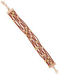 Lucky Brand - Key Item Leather Beaded Bracelet - Lyst