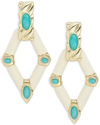 House of Harlow 1960 - Stone Accented Geometric Drop Earrings - Lyst