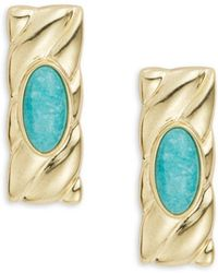 House of Harlow 1960 - Cabochon Amazonite Earrings - Lyst