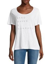 Lamade - Sand Waves And Sunrays Tee - Lyst