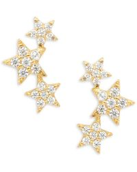 Tai - Pave Star Crawler Earrings - Lyst