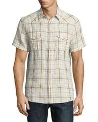 Lucky Brand - Linen-cotton Short Sleeve Sportshirt - Lyst