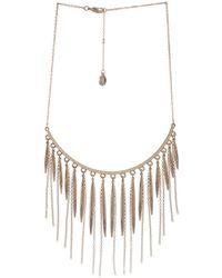 BCBGeneration - Glass Stone Drop Necklace - Lyst