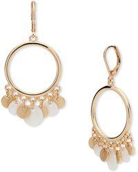 Anne Klein - Circular Drop Earrings - Lyst