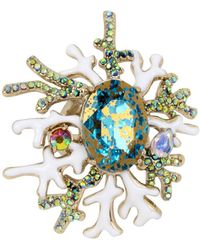 Betsey Johnson - Glitter Reef Coral Ring - Lyst