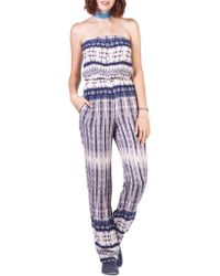 California MoonRise - Santa Fe Strapless Jumpsuit - Lyst