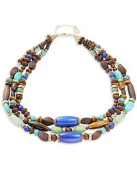 Lauren by Ralph Lauren - Fashion Reconstituted And Semi-precious Beaded Multi-row Necklace - Lyst