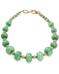 Lauren by Ralph Lauren - Fashion Graduated Semi-precious Beaded Collar Necklace - Lyst