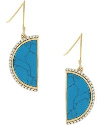 Cole Haan - 3/25 Spring Street Semi-precious Half-moon Drop Earrings - Lyst
