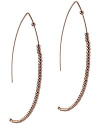 BCBGeneration - Brass Threader Earrings - Lyst