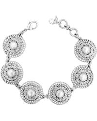 Lucky Brand - Ethereal Coasts Faux Pearl Link Bracelet - Lyst