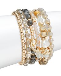 Lord & Taylor - Sun, Moon And Star Accented Layer Bracelet - Lyst
