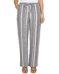 Chaus - Bohemian Bloom Striped Linen Trousers - Lyst