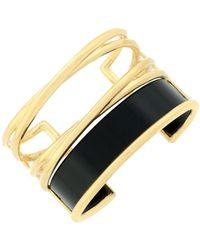"""Botkier - 4/25 Jet & Gold Inlay Statement """"x"""" Cuff Bracelet - Lyst"""