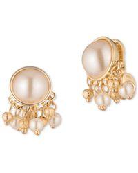 Anne Klein - Cluster 4/10mm Faux Pearl Stud Earrings - Lyst