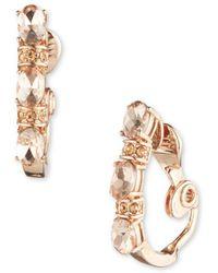 Anne Klein - Clip Hoop Earrings - Lyst