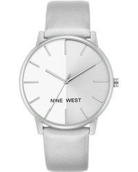Nine West - Colorblock Dial Metallic Strap Watch - Lyst