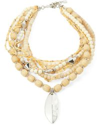 Lauren by Ralph Lauren - Semi-precious Beaded Necklace - Lyst
