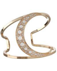 BCBGeneration - Cubic Zirconia Moon Cuff Bracelet - Lyst