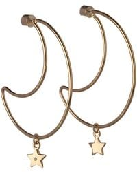 BCBGeneration - Cubic Zirconia Moon And Star Charm Earrings - Lyst