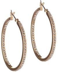 BCBGeneration - Studded Hoop Earrings - Lyst