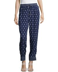 Two By Vince Camuto - Patterned Drawstring Trousers - Lyst
