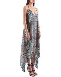 The Vanity Room - Printed Silk Dress - Lyst