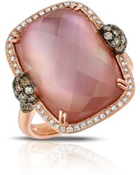 Marco Moore - Amethyst And Quartz Doublet, Diamond And 14k Rose Gold Ring - Lyst
