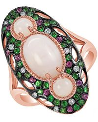 Marco Moore - Opal, Multi-stone, Semi-precious, Diamond And 14k Rose Gold Ring - Lyst