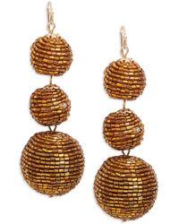 Nanette Lepore - Beaded Graduated Ball Drop Earrings - Lyst
